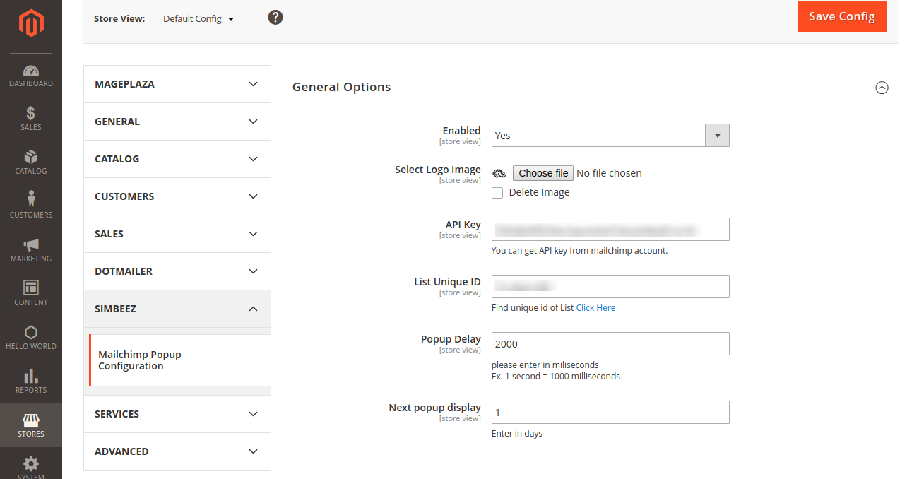 Subscription Popup with Mailchimp Integration for Magento 2
